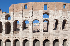 The Colosseum. Is an oval amphitheatre in the centre of the city, built of concrete and sand. It is the largest amphitheatre ever built Royalty Free Stock Images