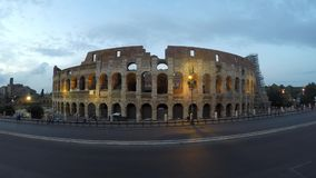 Colosseum på natten lager videofilmer