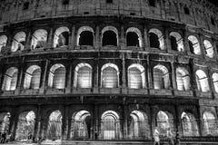 Colosseum på natten, Rome Arkivfoton