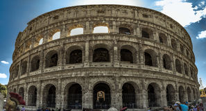 Colosseum Panorama Stockfotos