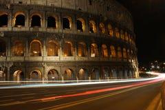 Colosseum par nuit Rome Image libre de droits