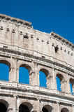 Colosseum part with summer blue sky Royalty Free Stock Images