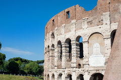 Colosseum part with summer blue sky Stock Image