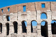 Colosseum part with summer blue sky Stock Photo