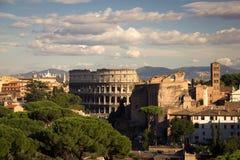 Colosseum pendant l'après-midi Images libres de droits