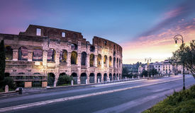 Colosseum pendant le matin Photos libres de droits