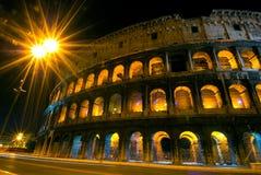 Colosseum por noche Fotografía de archivo