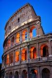 Colosseum por puesta del sol Foto de archivo libre de regalías