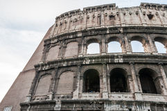Colosseum. Portion of ancient colosseum symbol of rome and romans in italy Royalty Free Stock Photography