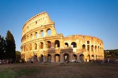 Colosseum przy zmierzchem, Rzym, Włochy Obrazy Stock