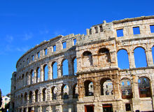 Colosseum in Pula. Rome colosseum in the city of Pula, Istria, Croatia Royalty Free Stock Photo