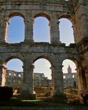 Colosseum in Pula. Old roman colosseum in croatian city of Pula, Adriatic coastline Stock Images