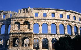 Colosseum in Pula. Ancient roman colosseum in Pula, Istria, Croatia Stock Image