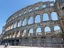 Colosseum Pula. Amphitheatre in Pula, ancient Roman Arena, Croatia, Istria Stock Photo