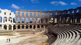 Colosseum in Pula. Colosseum in Croatia, Pula royalty free stock photography