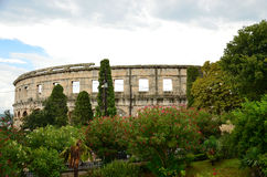 Colosseum in Pula Royalty Free Stock Photography