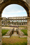COLOSSEUM IN PULA Stock Photos