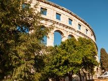 Colosseum Pula, Kroatien Royaltyfri Bild