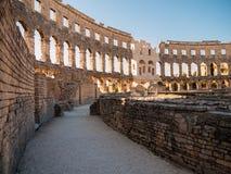 Colosseum Pula, Kroatien Royaltyfri Foto