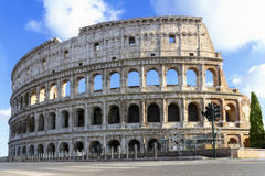 Colosseum restoration, complete facade Royalty Free Stock Image