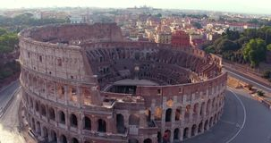 Colosseum in Rom stock footage