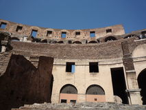 Colosseum, Rom - Haupttribünendetails, Infrastruktur zeigend Stockbild