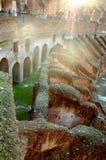Colosseum Rom Italien Innenraumdetail Stockfoto