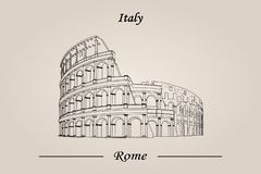 Colosseum in Rom, Italien Vektorabbildung getrennt lizenzfreie abbildung