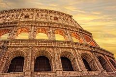 Colosseum in Rom am Sonnenuntergang, Italien Lizenzfreie Stockbilder