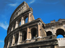 Colosseum in Roma. On the blue sky Royalty Free Stock Photography