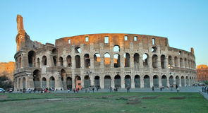 Colosseum in Roma. Positive shot of Colosseum in Roma on sunset Royalty Free Stock Photo