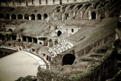 Colosseum in Roma. In a cloudy day Royalty Free Stock Photography