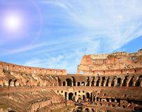 Colosseum Roma de la configuración Imágenes de archivo libres de regalías