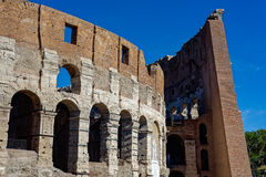 The colosseum in Roma. The famous colosseum in Roma, Italy Royalty Free Stock Image