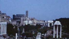 Colosseum, Roma, Italia (los años 60 archivales) almacen de video