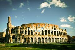 Colosseum a Roma a mezzogiorno Fotografia Stock Libera da Diritti