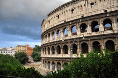 Colosseum, Roma. Rainy clouds in Roma, near Colosseum Stock Photos