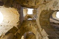 Colosseum romain en Tunisie Images libres de droits
