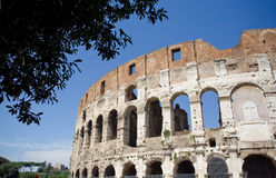 The Colosseum or Roman Coliseum. Originally capable of seating around 80,000 spectators, the Colosseum was used for gladiatorial contests and public spectacles Royalty Free Stock Photos