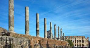 Colosseum and Roman Forum Stock Photo