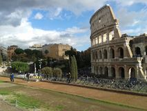 Colosseum, Roman Forum, Colosseum, Colosseum, point de repère, ciel, Rome antique, site historique Photographie stock libre de droits