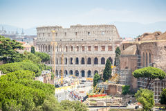 Colosseum and Roman Forum, Rome, Italy Royalty Free Stock Images