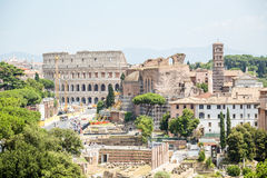 Colosseum and Roman Forum, Rome, Italy Royalty Free Stock Image
