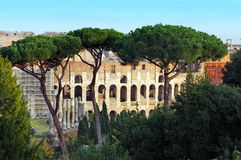Colosseum and Roman Forum Stock Photography