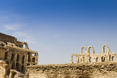 colosseum roman tunisia Arkivbilder