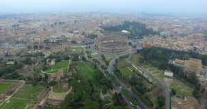 Colosseum in Rome stock footage
