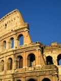 Colosseum in rome. Detail of the exterior of the coloseum, rome Royalty Free Stock Photography