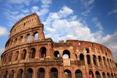 Colosseum in Rome. Italy, with blue sky stock image