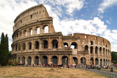 Colosseum Rome. With blue white sky
