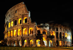 Colosseum, Rome. The Colosseum in Rome by Night royalty free stock images